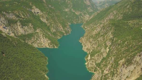 Thumbnail for Aerial Footage of Piva Lake