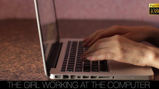 Cover Image for The Girl Working At The Computer