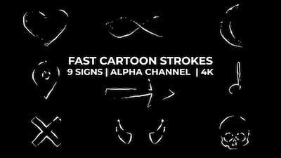 Fast Cartoon Strokes Signs