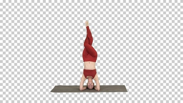 Thumbnail for Beautiful young woman doing yoga exercise variation of supported