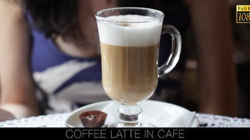 Kaffee Latte Im Café