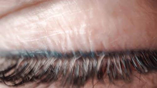 Woman Single Eye Close Up