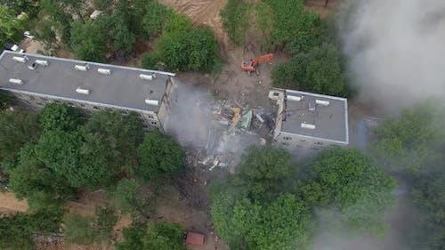A Partly Demolished Residental Building