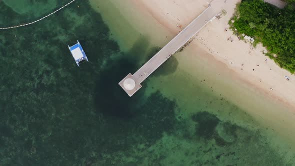 Thumbnail for Top view of the sand beach in ishigaki