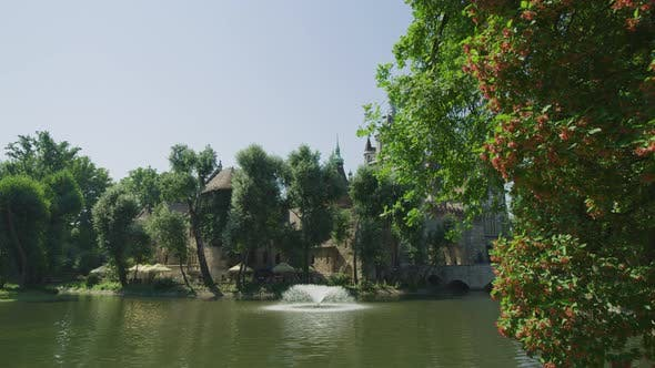 Thumbnail for Pond with fountain in Budapest City Park