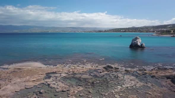 Thumbnail for Amazing Seascape From Drone, Flying Over Sea Water Turquoise Color, Mountains