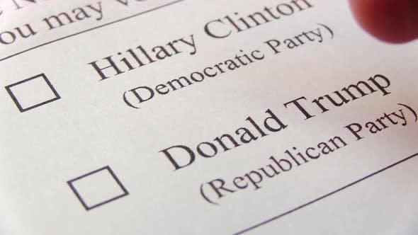 Clinton Or Trump. Presidental Election