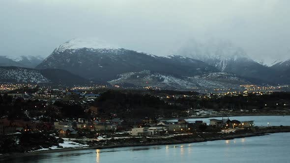 Thumbnail for Ushuaia at Night, in Tierra del Fuego Province, Argentina.