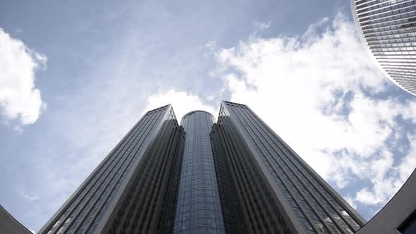 Thumbnail for TIME LAPSE: Tower 185 Skyscraper in Frankfurt Am Main, Germany with Beautiful Sunshine and Clouds