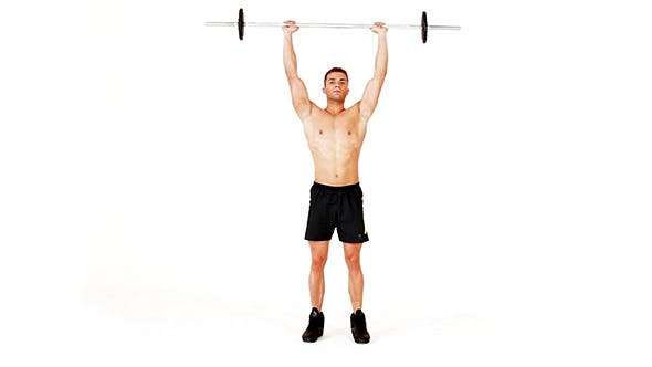 Cover Image for Handsome Muscular Man Doing Exercises