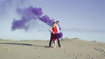 Lovers in Desert