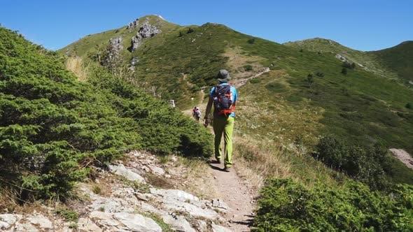 Thumbnail for Young Man in Mountain Hiking Adventure in Bulgaria,Balkan Mountain