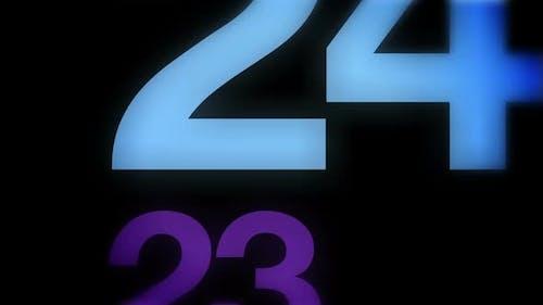 Modern Fun Countdown from 30 to 0
