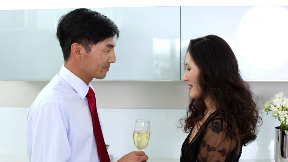 Happy Couple Celebrating Their Anniversary