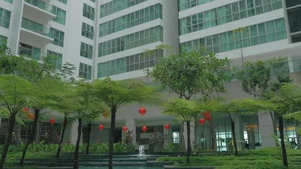 Thumbnail for In Kuala Lumpur, Malaysia Seen Skyscraper and Unusual Fountain