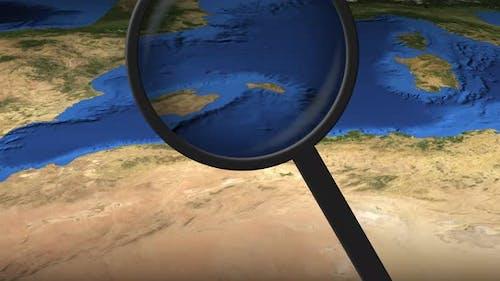 Algier City Auf der Karte gefunden