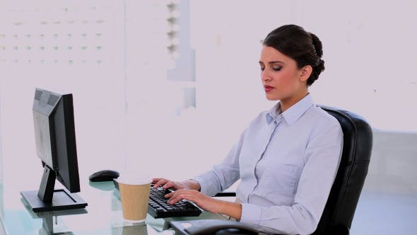 Thumbnail for Content Beautiful Businesswoman Using Computer
