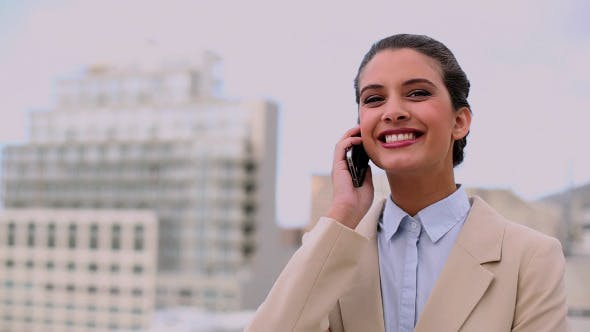 Thumbnail for Thoughtful Beautiful Businesswoman Making A Call