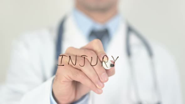 Injury, Doctor Writing on Screen