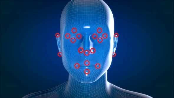 Facial recognition motion design