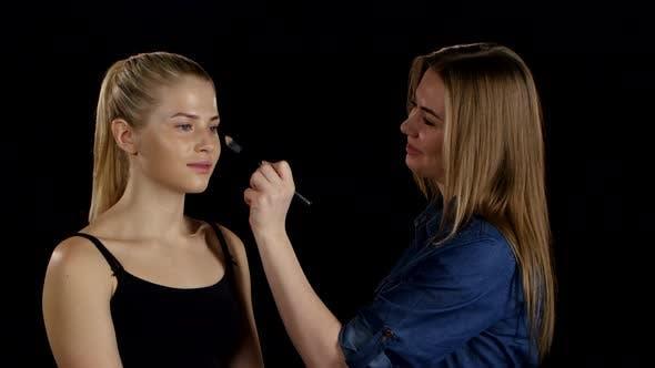 Thumbnail for Professional Make-up Artist. Makeup. Black