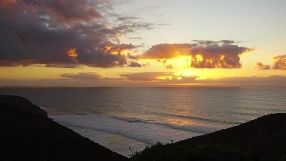 Thumbnail for Sunset in Atlantic Ocean, Morocco Coast, Timelapse