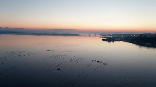 Aerial view of internal sea of Taranto