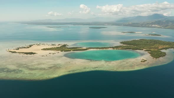 Thumbnail for Bay with Tropical Islands and Coral Reef Palawan, Philippines