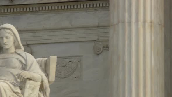 Thumbnail for Statue in front of US Supreme Court building