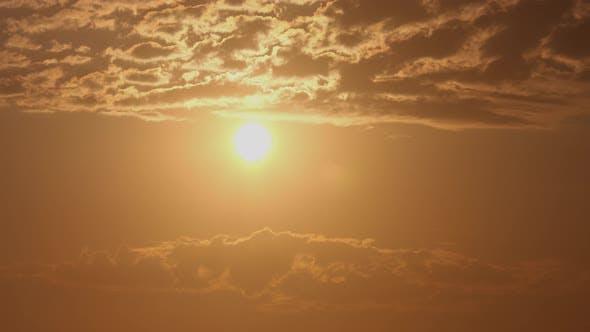 Cloudy Sunrise Time Lapse