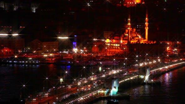 Thumbnail for Galata Bridge and Night Traffic
