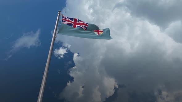 Fiji Flag Waving 2K