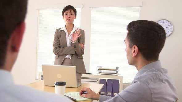 Thumbnail for Asian businesswoman giving a lecture