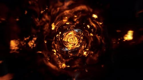 Abstract Swirl Flame Tunnel 4K 03