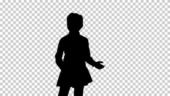 Silhouette Girl, Alpha Channel