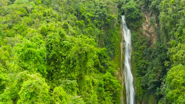 Cover Image for Beautiful Tropical Waterfall Philippines, Cebu