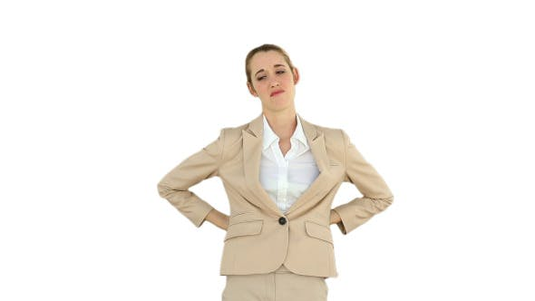 Thumbnail for Businesswoman Rubbing Her Sore Back