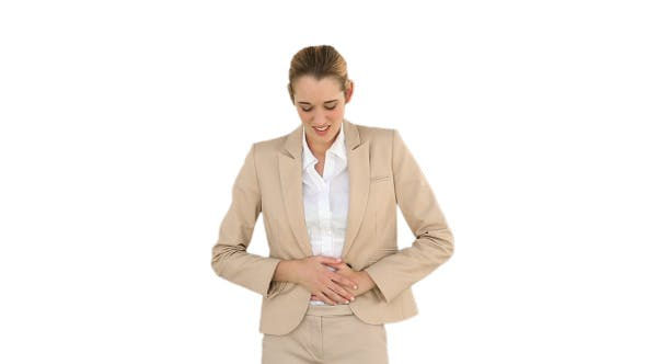 Thumbnail for Businesswoman Rubbing Her Sore Stomach