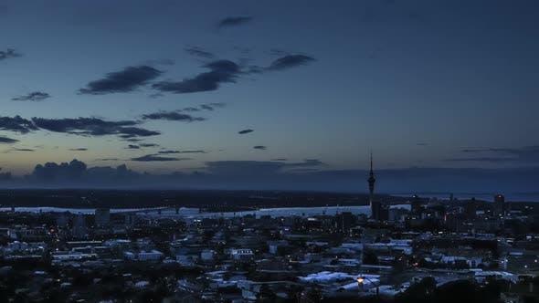 Thumbnail for Auckland nightfall timelapse