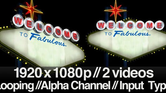 Thumbnail for Welcome to Fabulous Generic Las Vegas Sign + Alpha