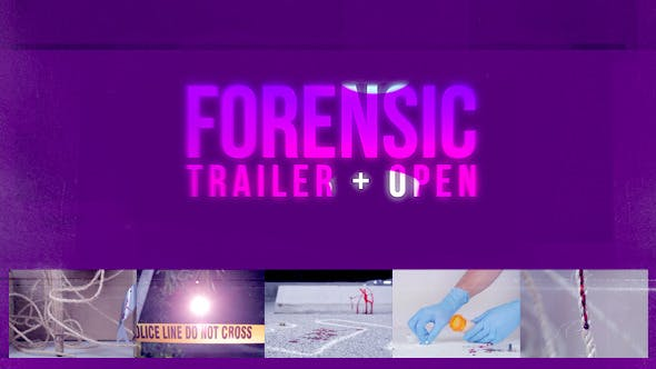 Thumbnail for Forensic Trailer + Intro