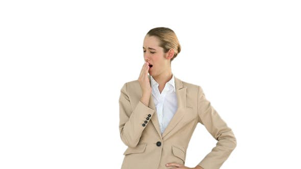 Thumbnail for Businesswoman Yawning And Passed A Coffee 2