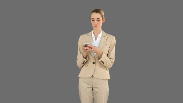 Thumbnail for Businesswoman Texting On The Phone 4