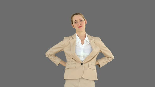 Thumbnail for Businesswoman Rubbing Her Sore Back 2