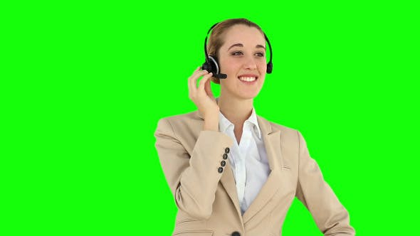 Call Centre Agent Talking On The Headset 1