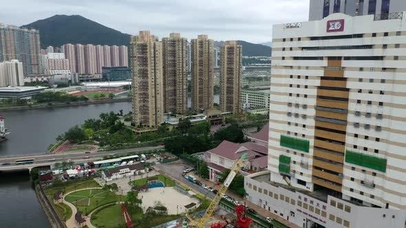 Thumbnail for Top down view of Hong Kong urban city