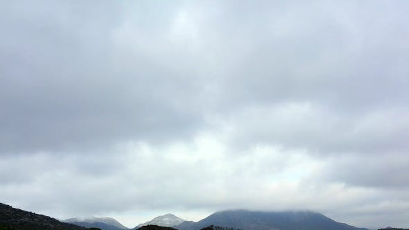 Cloudy Sky Over Mountains