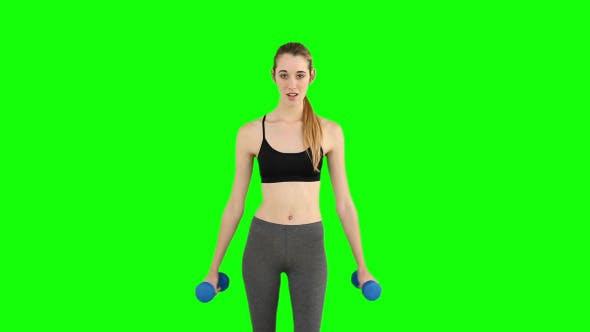 Thumbnail for Fit Model Raising Dumbbells 1