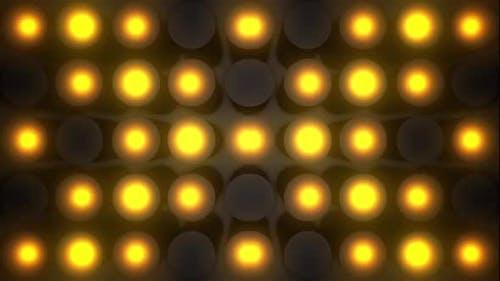 6 blinkende Glühbirnen