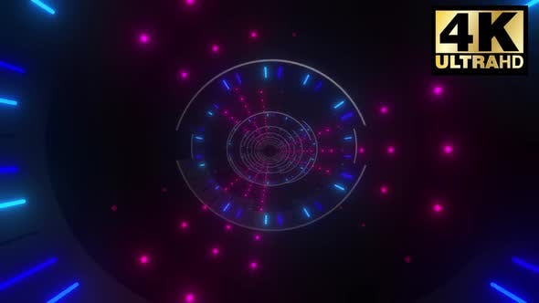 Cover Image for Neon Shape   Dots Tunnel Pack 4k